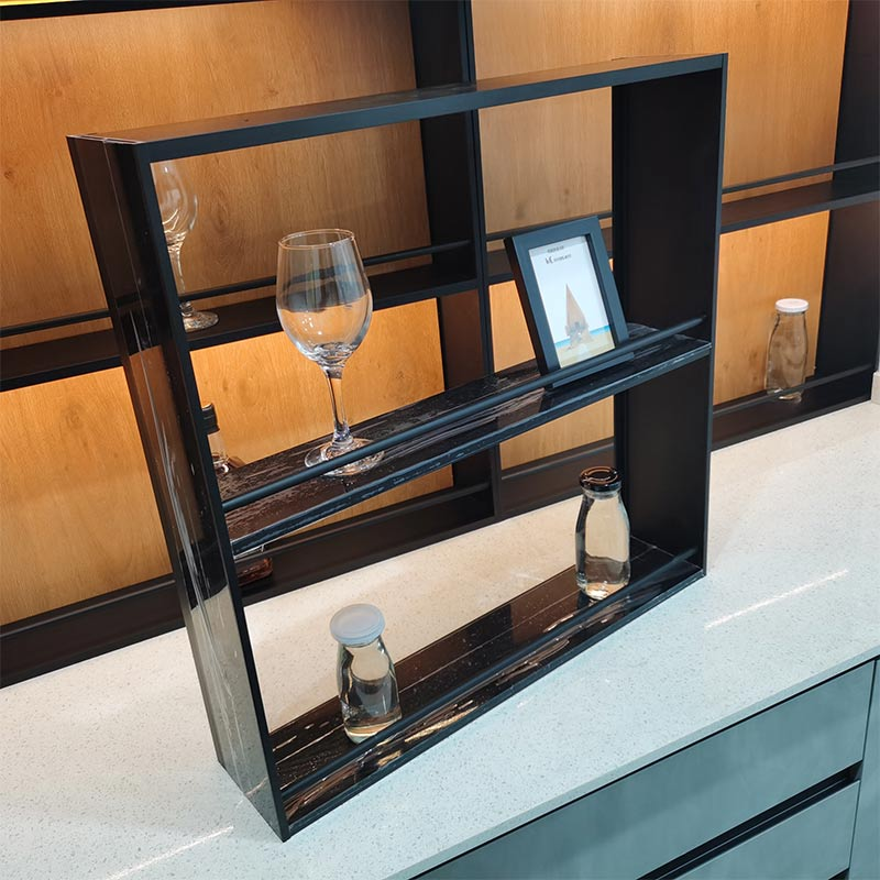 Photo shelf and red wine Aluminum profile for kitchen cabinet